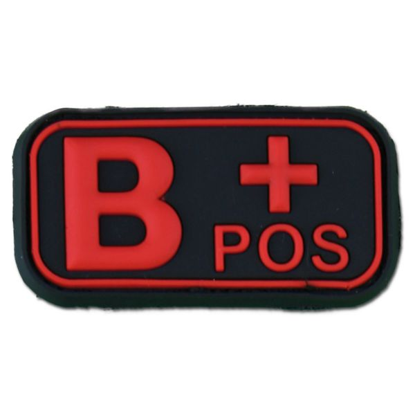 3D Blutgruppenpatch B Pos blackmedic