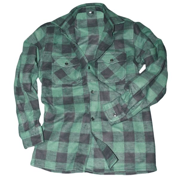Mil-Tec Holzfällerhemd schwarz grün