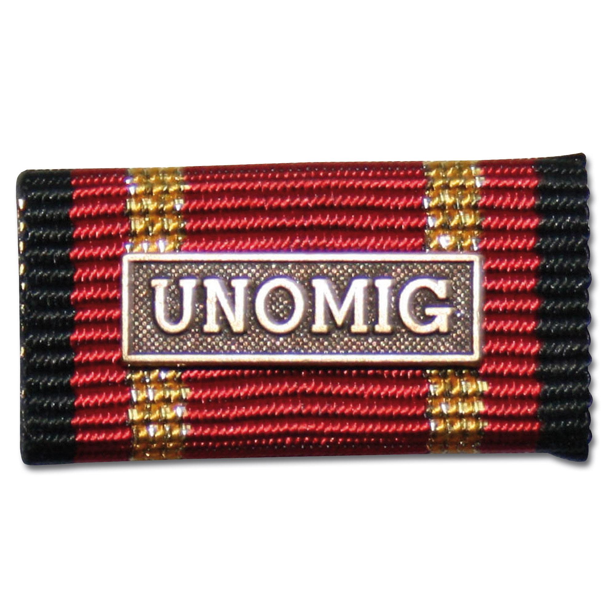 Ordensspange Auslandseinsatz UNOMIG bronze