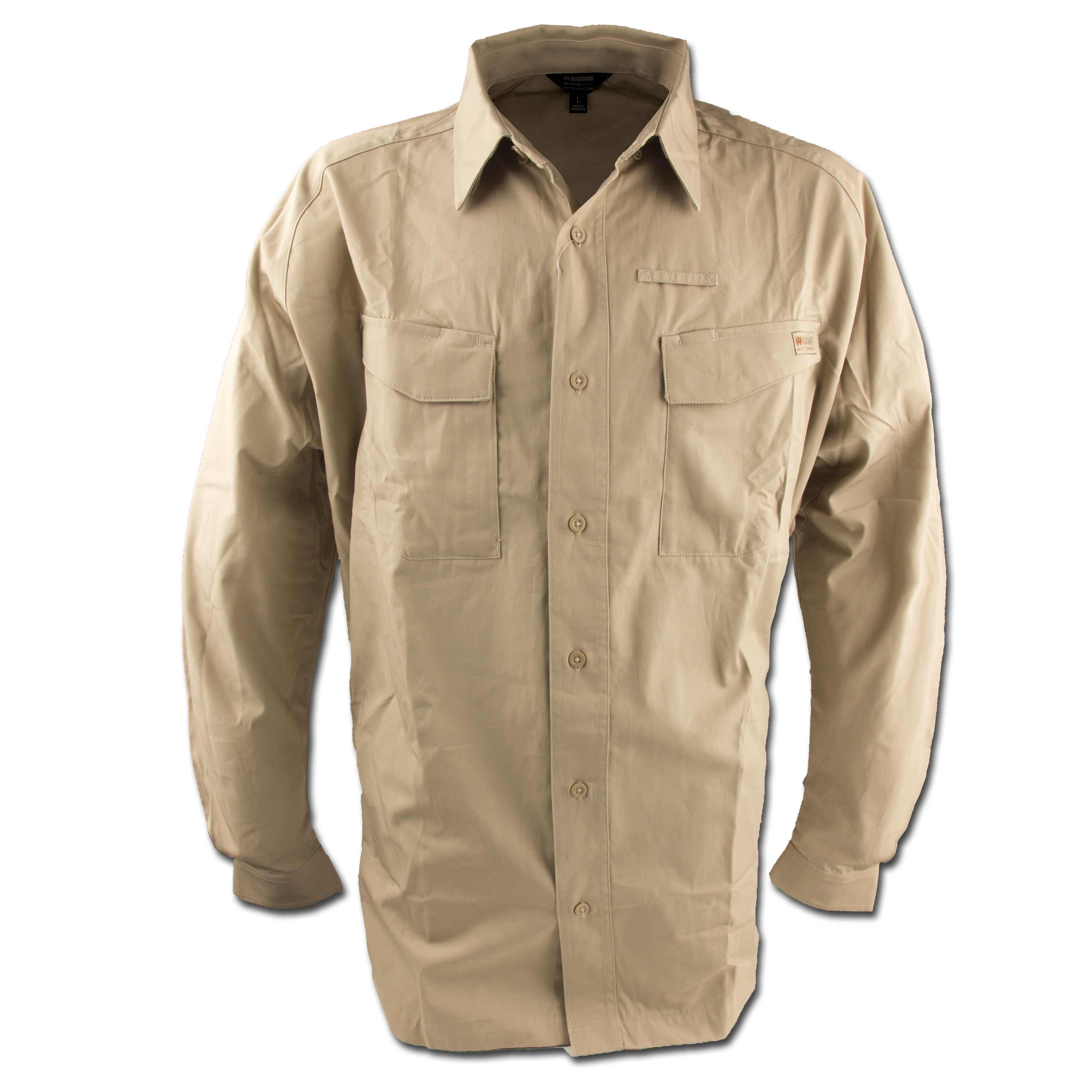 Blackhawk Performance Cotton Tactical Shirt Longsleeve khaki