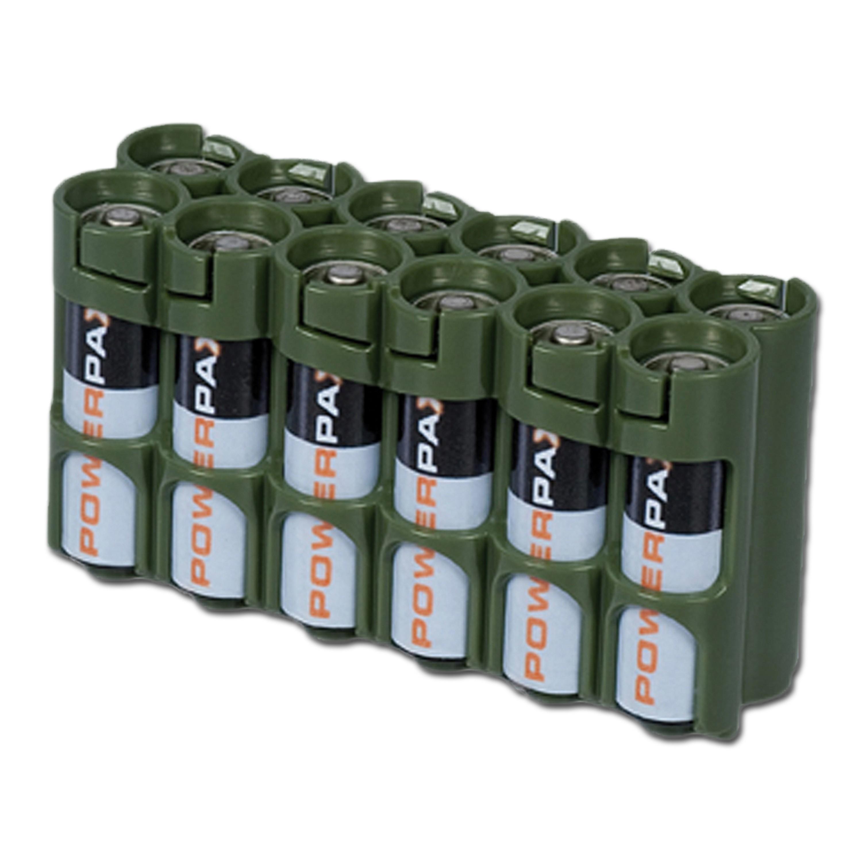 Batteriehalter Powerpax 12 x AA oliv
