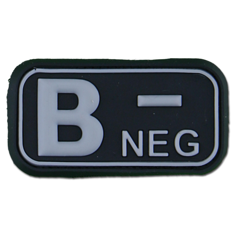 3D Blutgruppenpatch B Neg swat