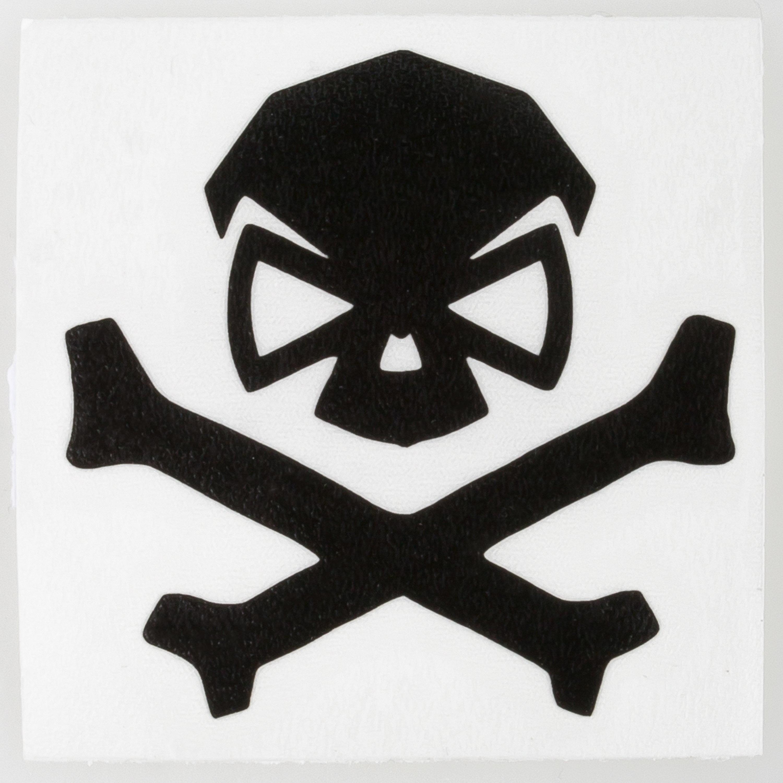 Pipe Hitters Union Skull & Bones Aufkleber mittel schwarz