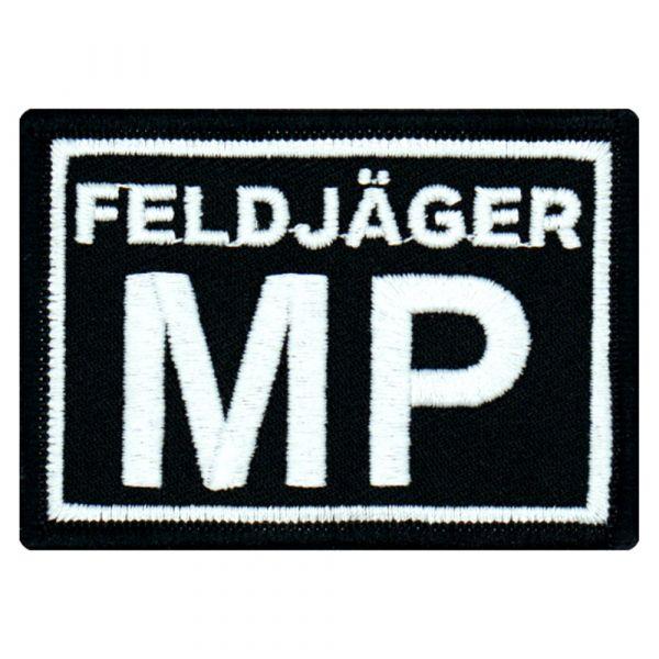 Café Viereck Patch Feldjäger MP schwarz weiß