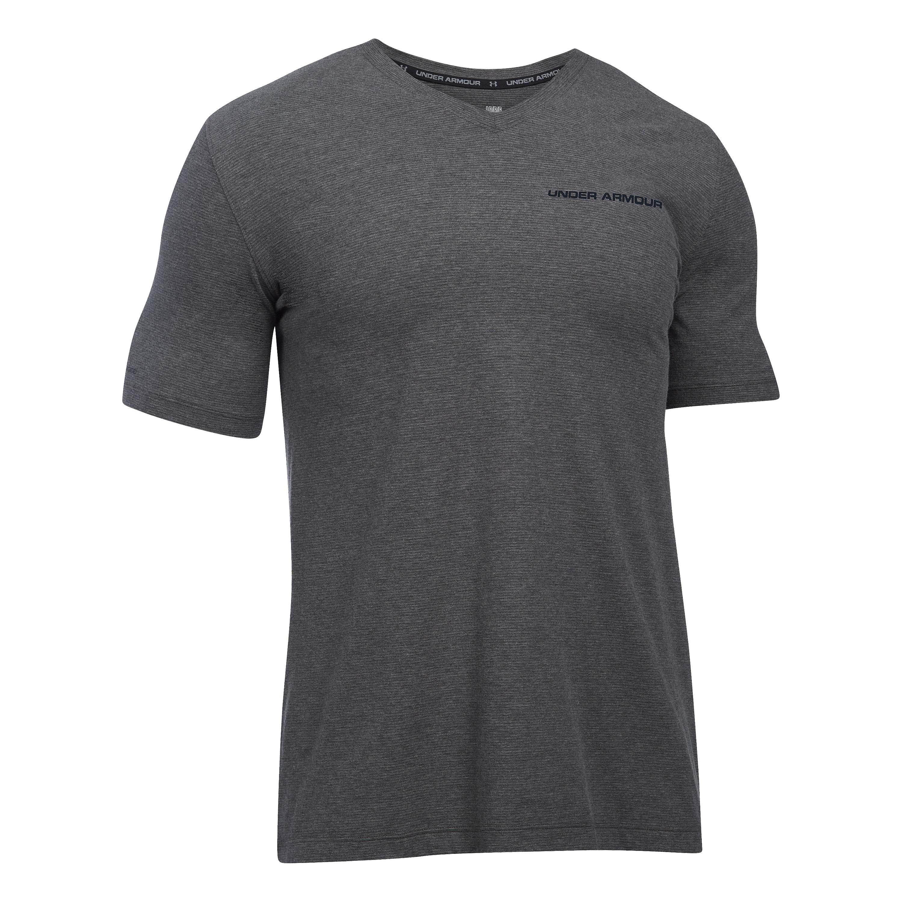 Under Armour T-Shirt V-Neck Charged Cotton anthrazit