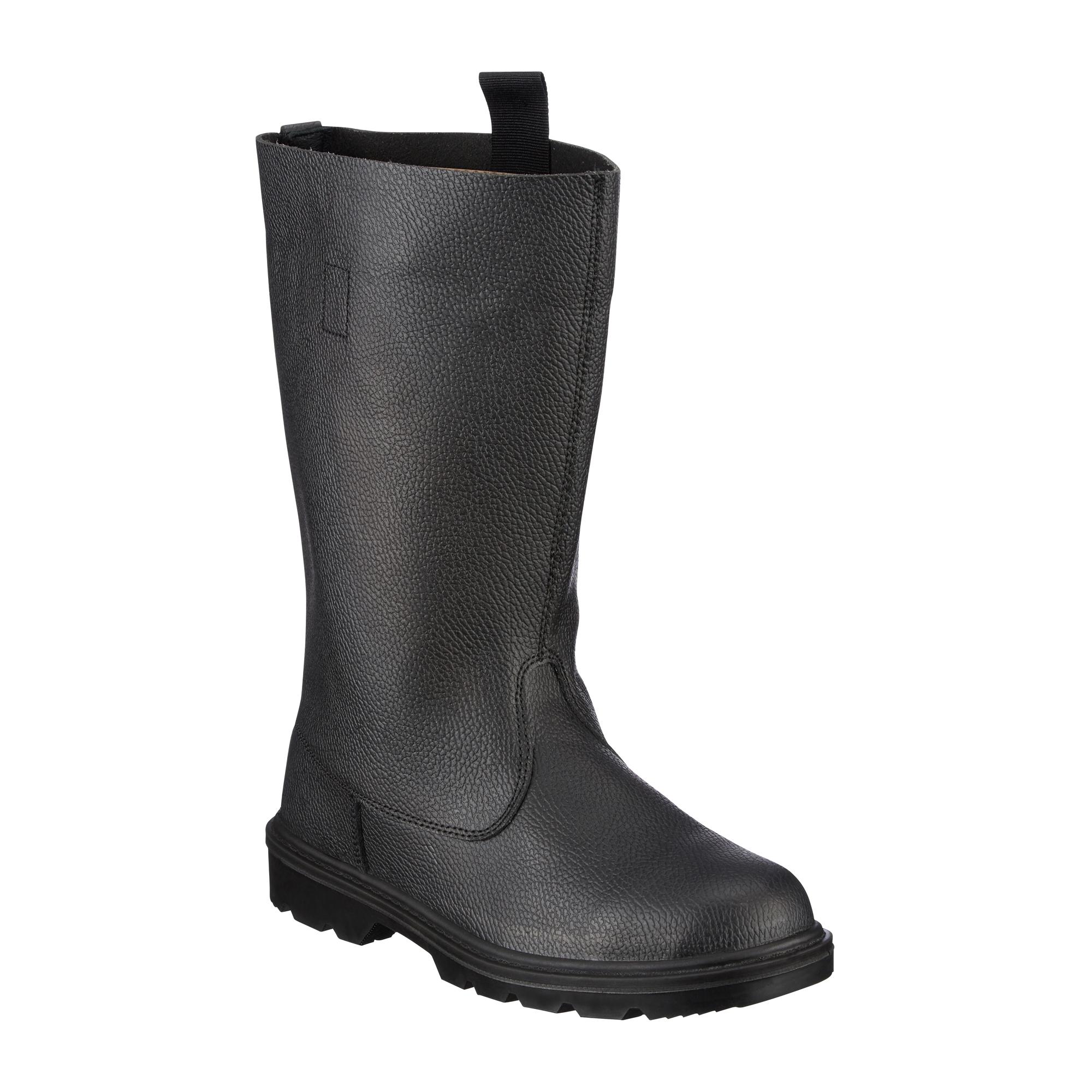 Stiefel Knobelbecher Leder schwarz