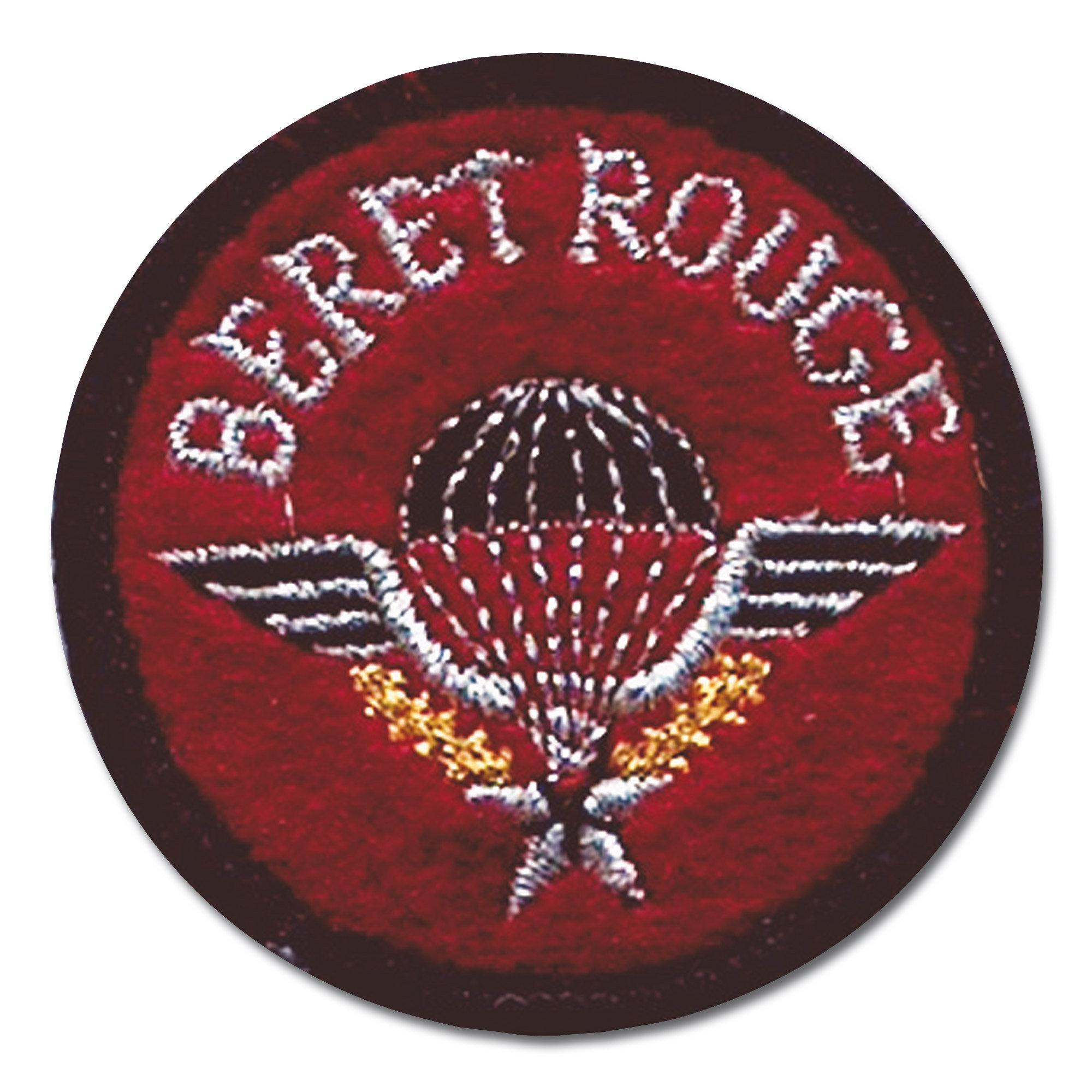 Abzeichen Springer Textil Beret Rouge