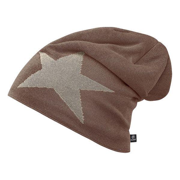 Brandit Beanie Jersey Star braun khaki