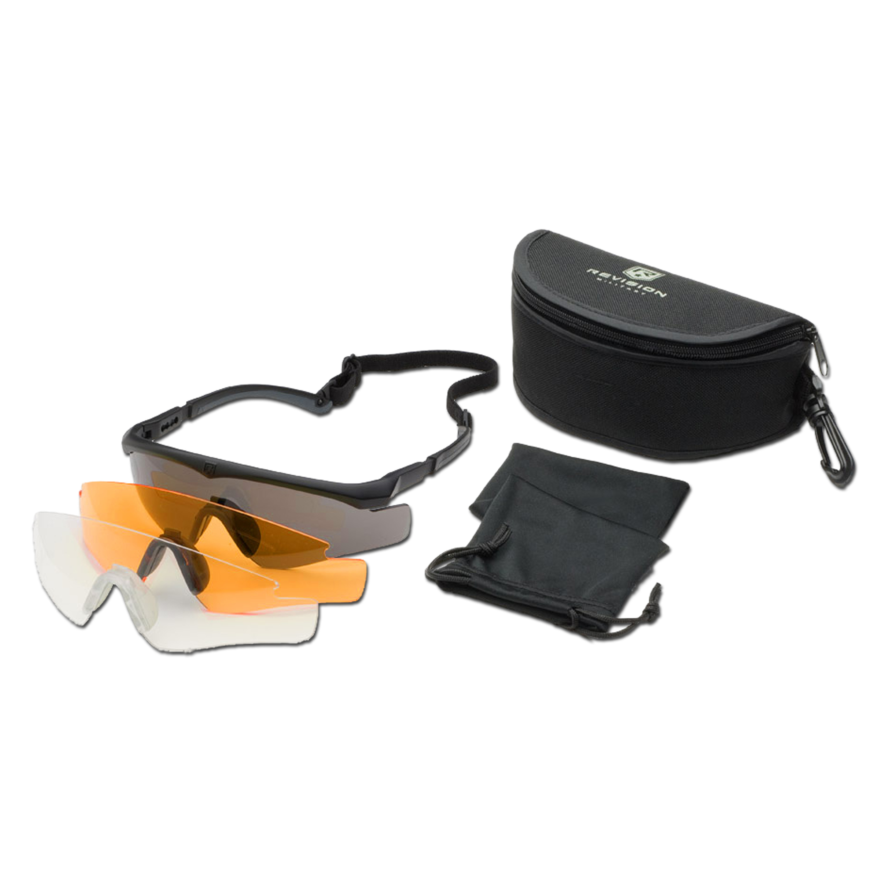 Brille Revision Sawfly MAX-Wrap Mission Kit large schwarz