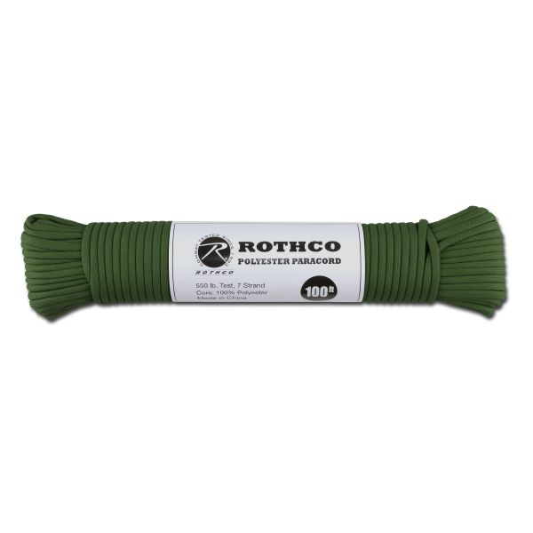 Paracord 550 lb hunter grün 100 ft. Polyester