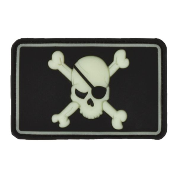 3D-Patch Pirate Skull nachleuchtend