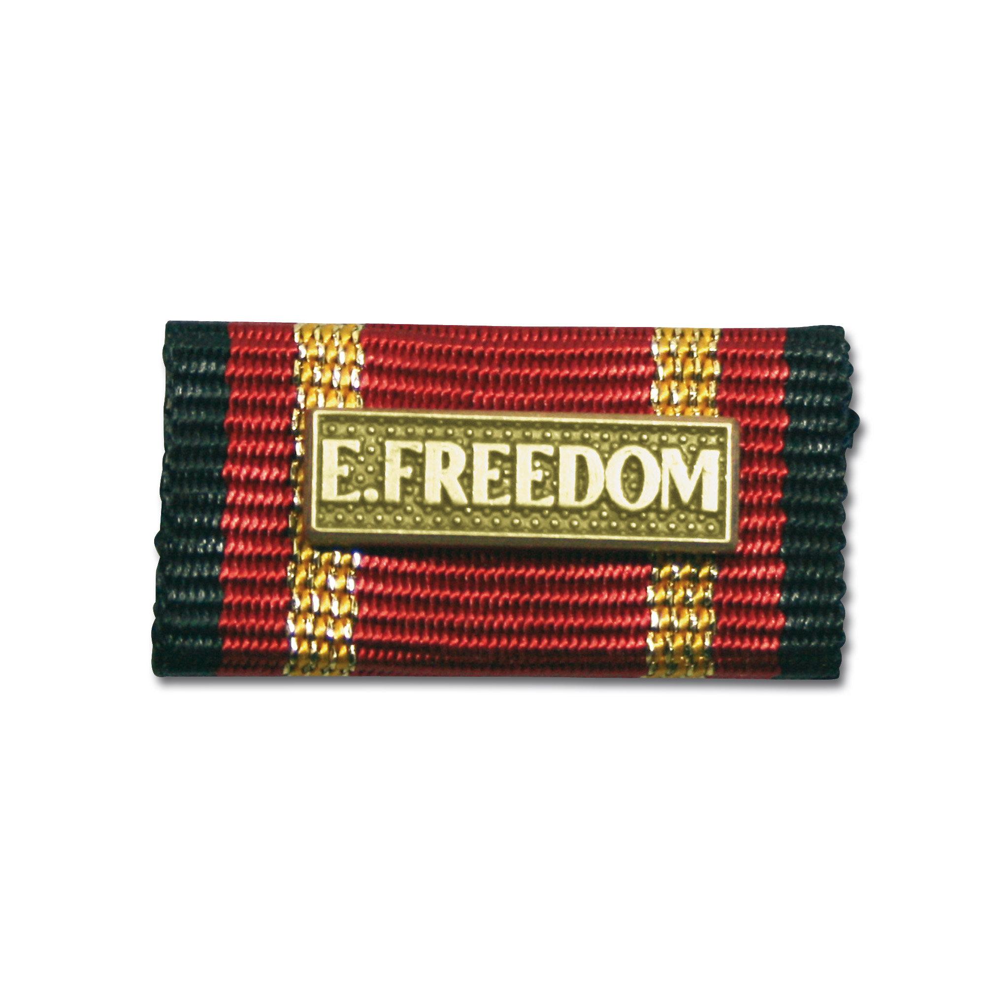 Ordensspange Auslandseinsatz Enduring Freedom gold