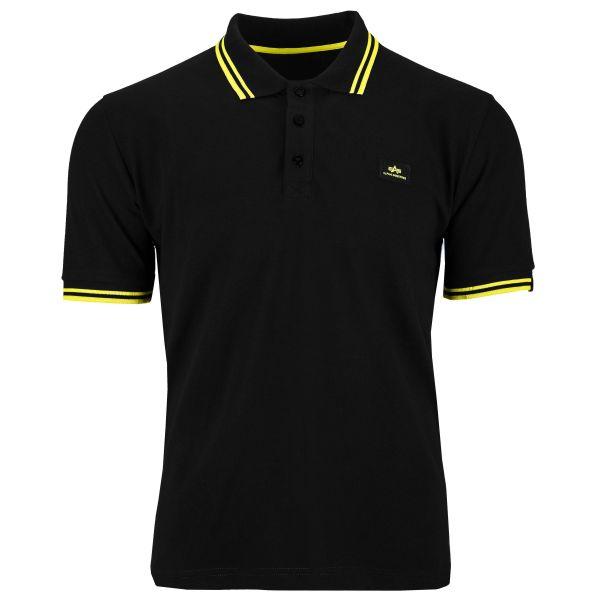 Alpha Industries Polo-Shirt Twin Stripe II schwarz gelb