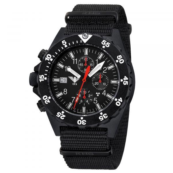 KHS Uhr Shooter Chronograph Natoband schwarz