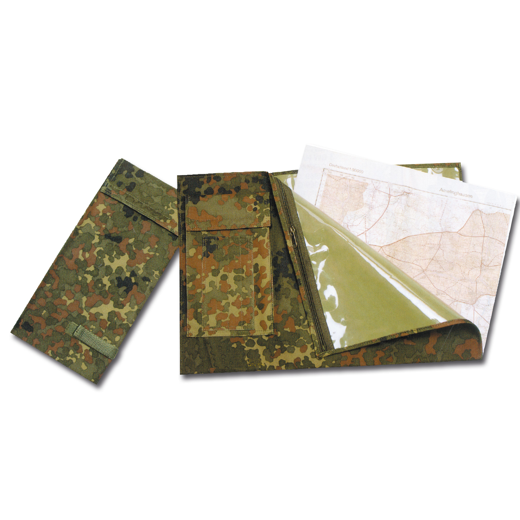 Kartentasche faltbar flecktarn