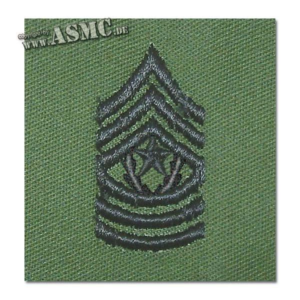 Rangabzeichen US Textil Comm.Serg. Major oliv
