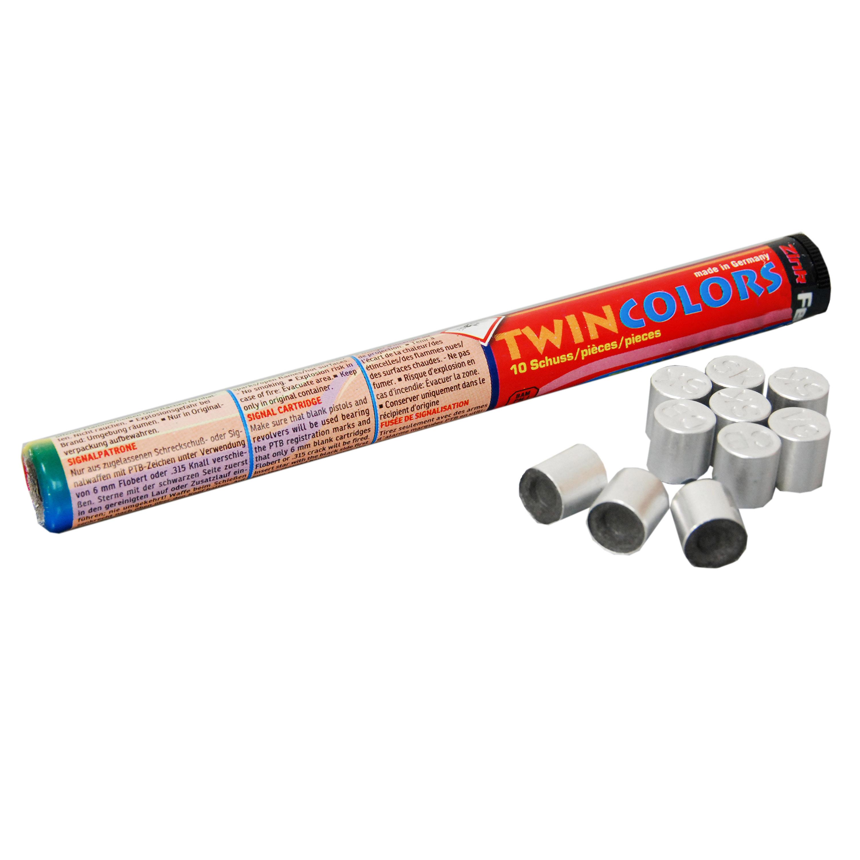 Zink Feuerwerk Twin Colors Signalsterne 15 mm 10 Stück