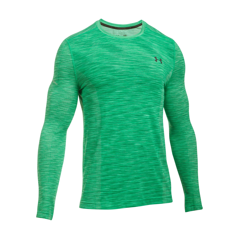 Under Armour Fitness Langarmshirt Threadborne Seamless grau-grün