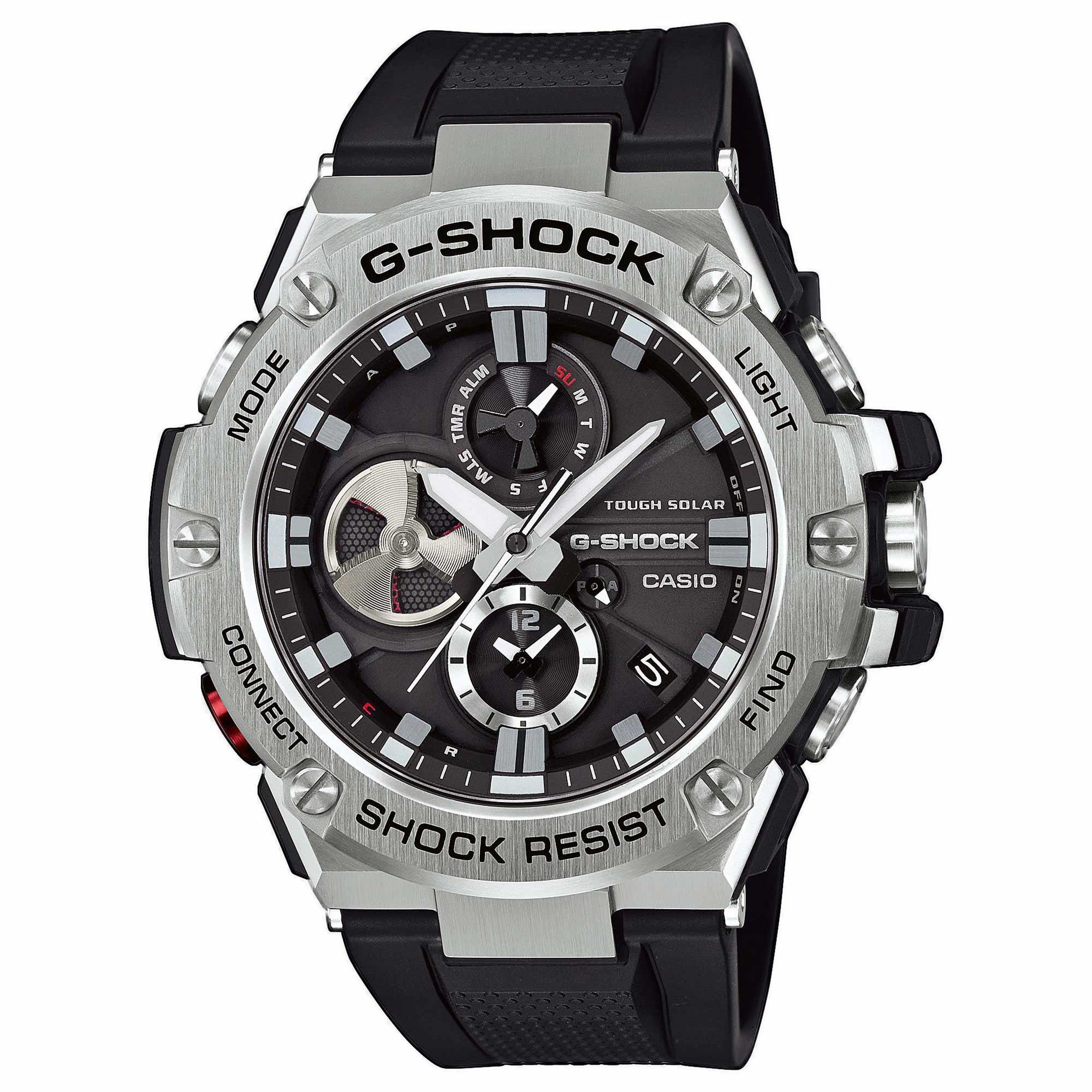 Casio Uhr G-Shock G-Steel GST-B100-1AER silber schwarz