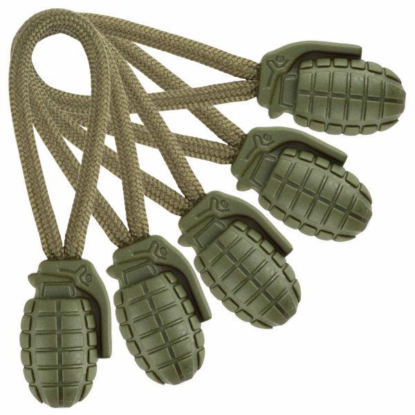 Mil-Tec Ring Puller Pineapple 5er Pack oliv