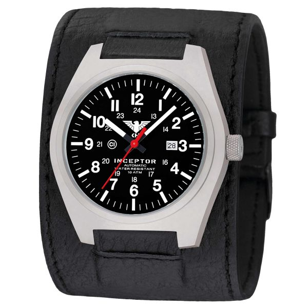 KHS Uhr Inceptor Steel Automatic Lederkraftband schwarz