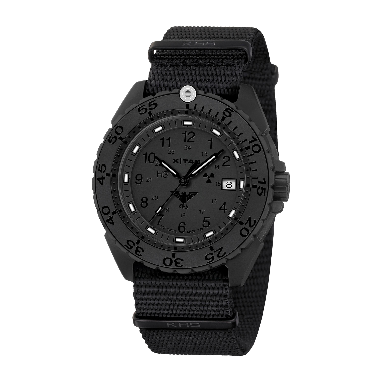 KHS Uhr Enforcer Black Titan XTAC Natoband schwarz