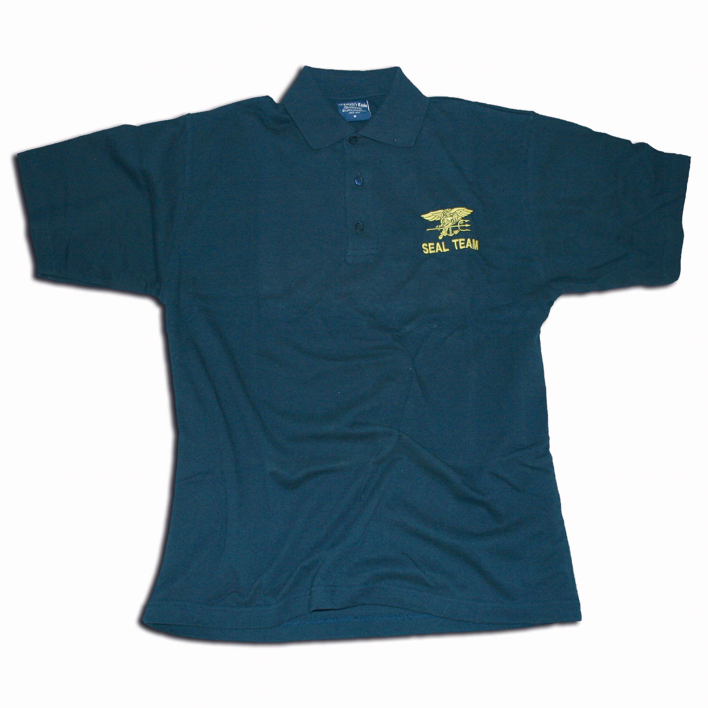 Polo-Shirt bestickt mit SEALTeam