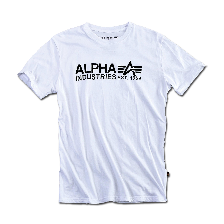 T-Shirt Alpha Industries Print 17 weiss