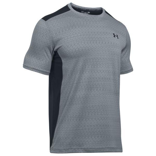 Under Armour Fitness T-Shirt Raid Jacquard SS grau schwarz