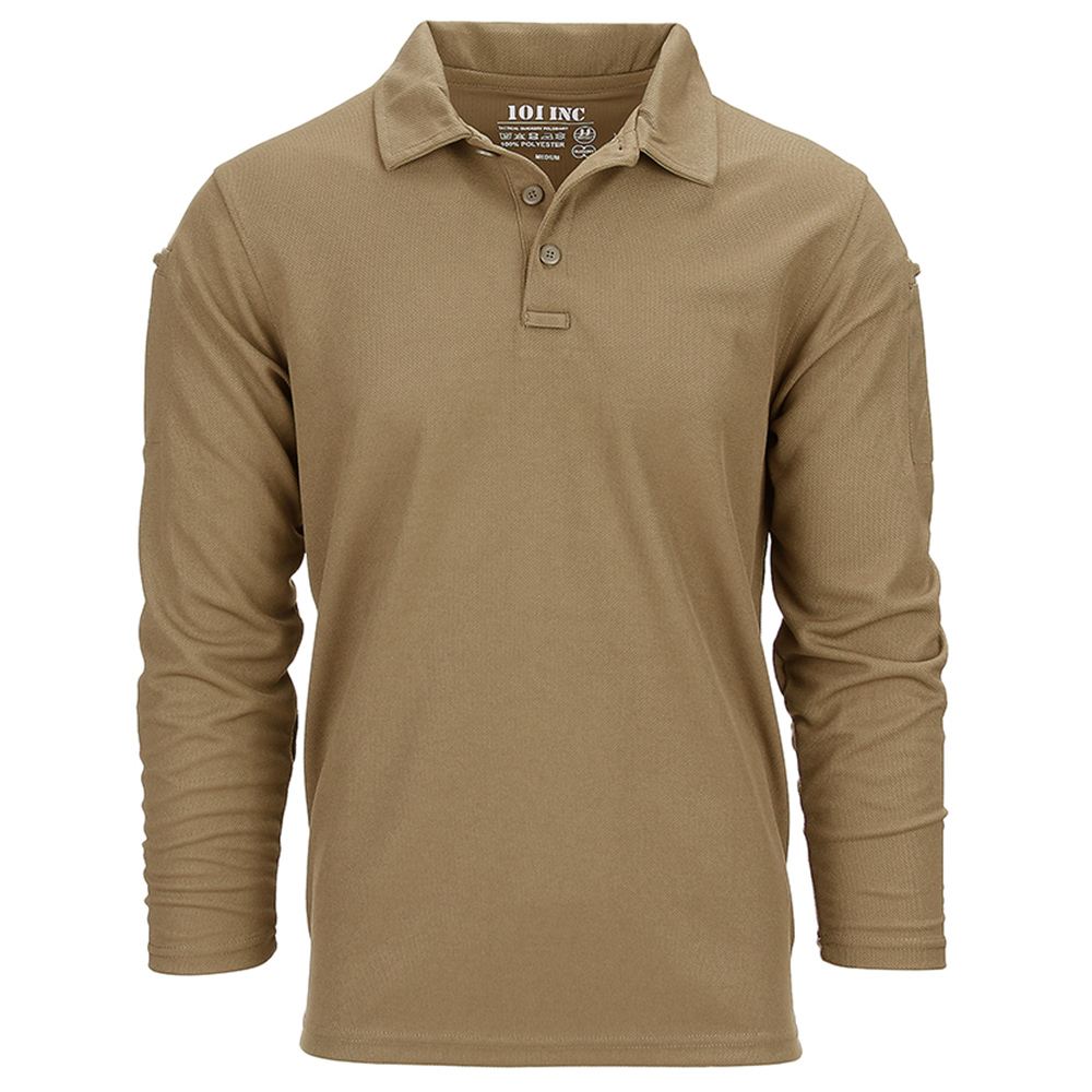 101 Inc. Longsleeve Tactical Polo Quick Dry coyote