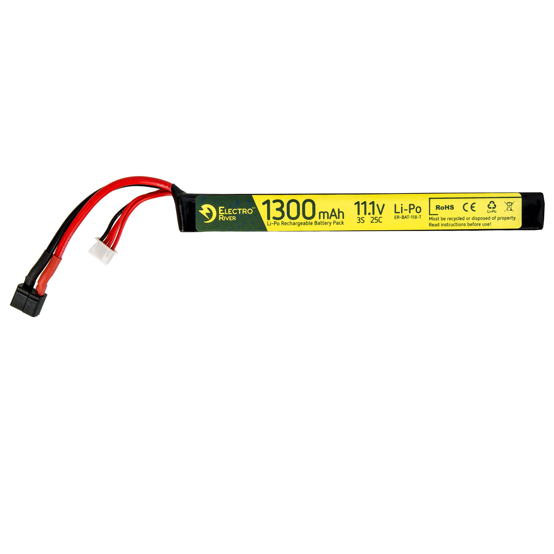 Electro River Li-Po Akku 11.1 V 1300 mAh Stick 25/50C Dean