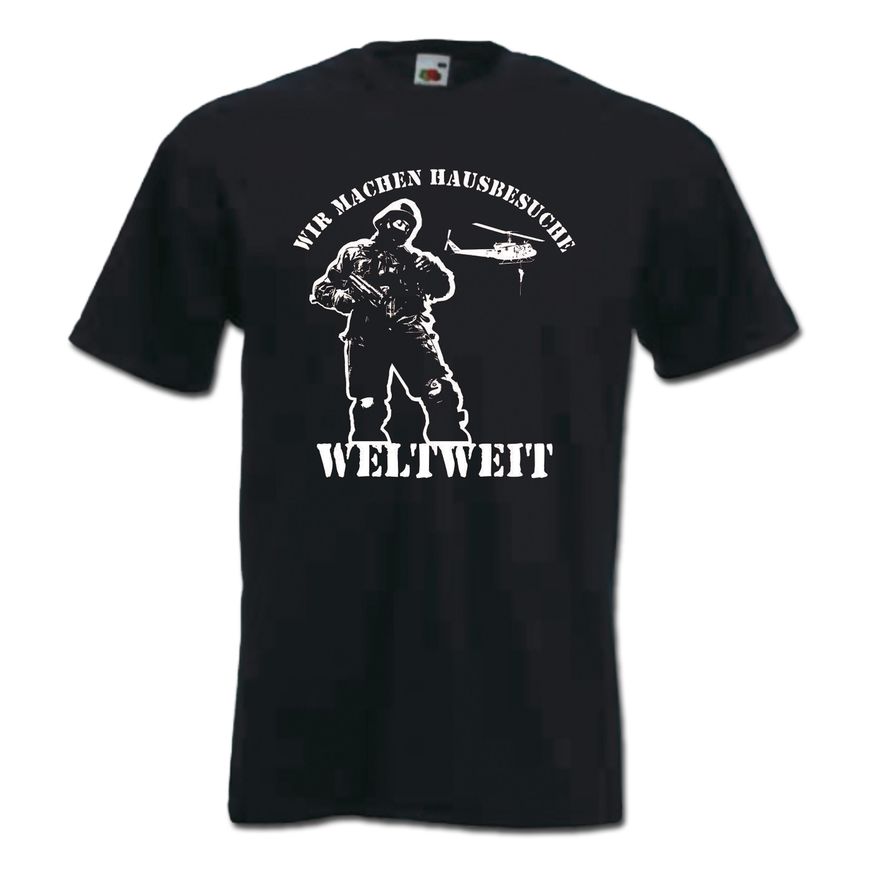 T-Shirt Hausbesuche II schwarz