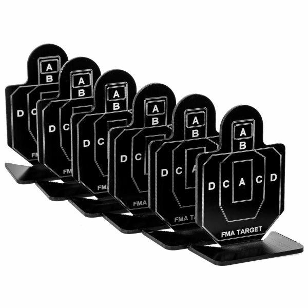 FMA Zielscheiben Practice Target A Group 6 Stück schwarz