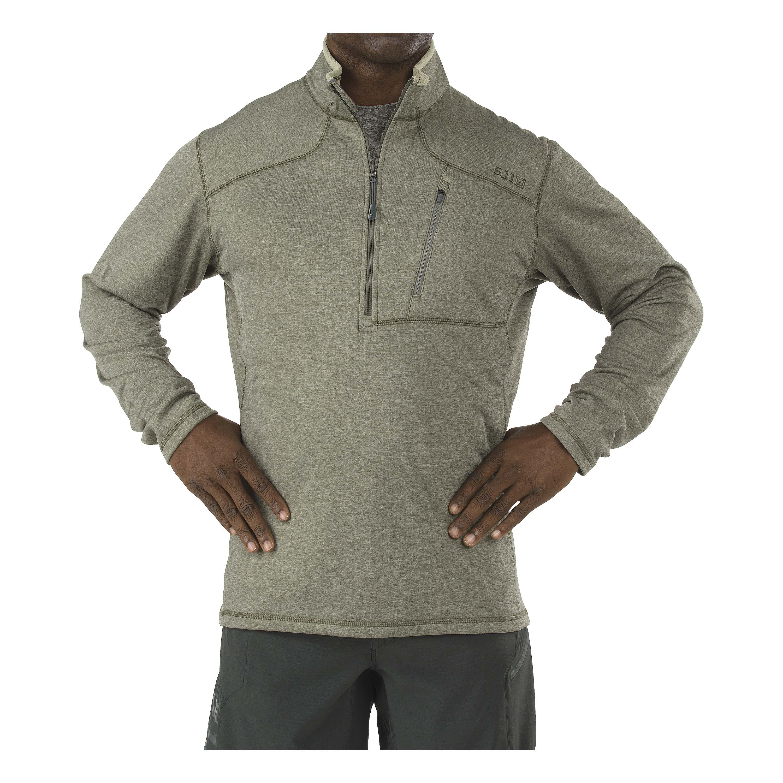 5.11 Langarmshirt Recon® Half-Zip oliv