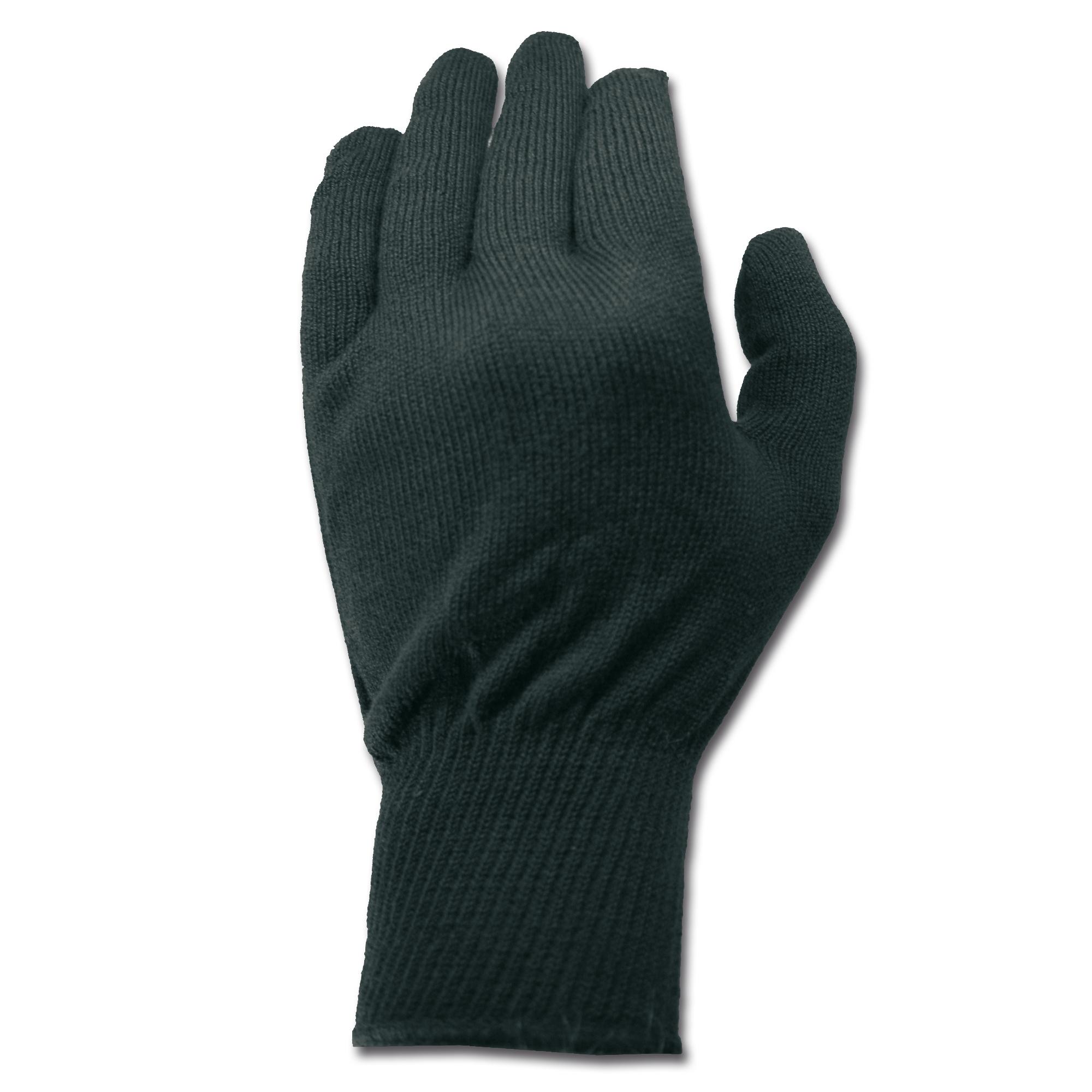 Unterziehhandschuhe Polypro schwarz