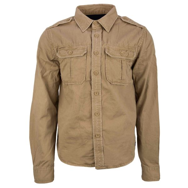 Brandit Shirt Raw Vintage Longsleeve camel
