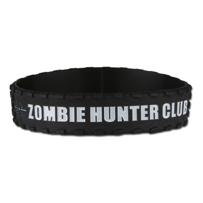 Silikonarmband Zombie Hunter Club schwarz