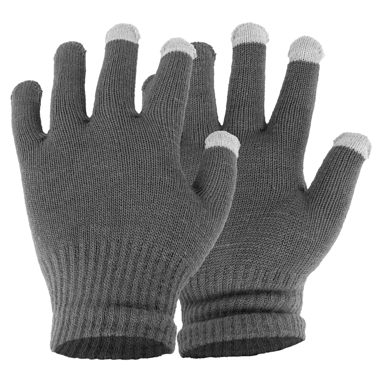 Touchscreen Herren-Handschuhe grau