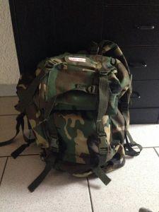 Rucksack halb gepackt