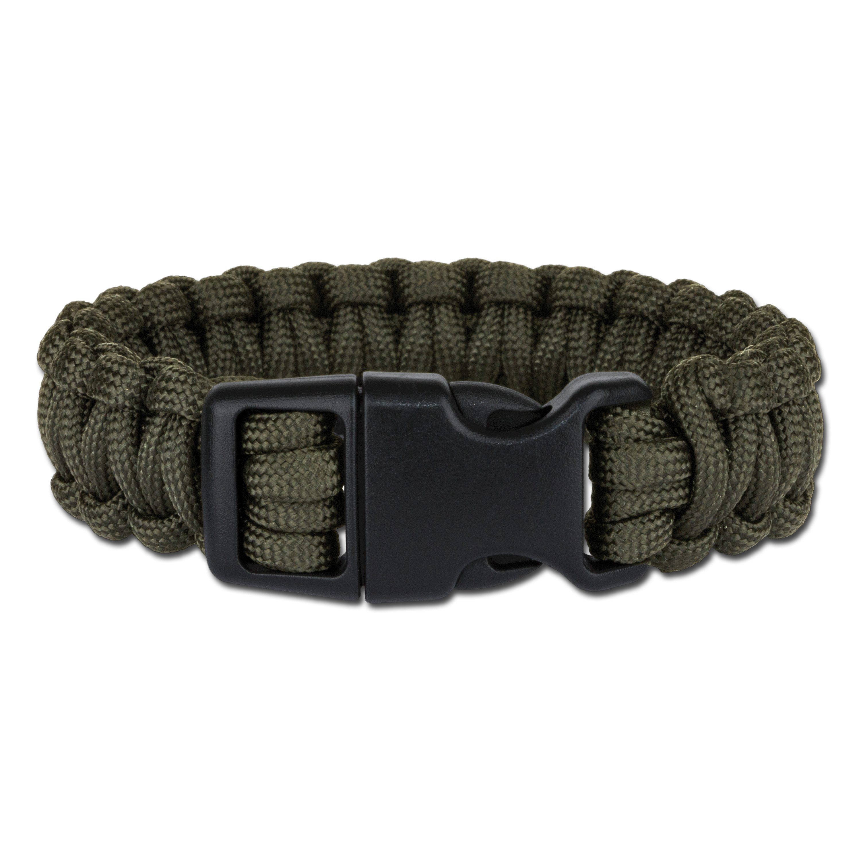 Survival Paracord Bracelet breit oliv