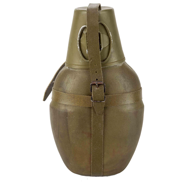 NVA Feldflasche mit Becher isoliert gebraucht