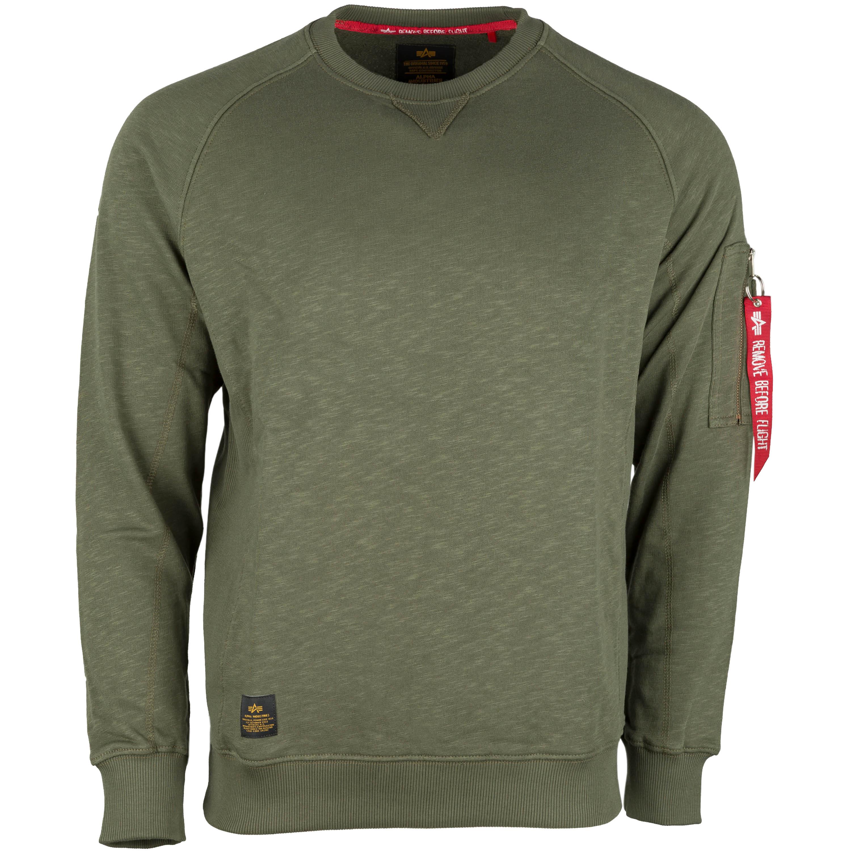Alpha Industries Sweatshirt Solid Crew Neck dark olive