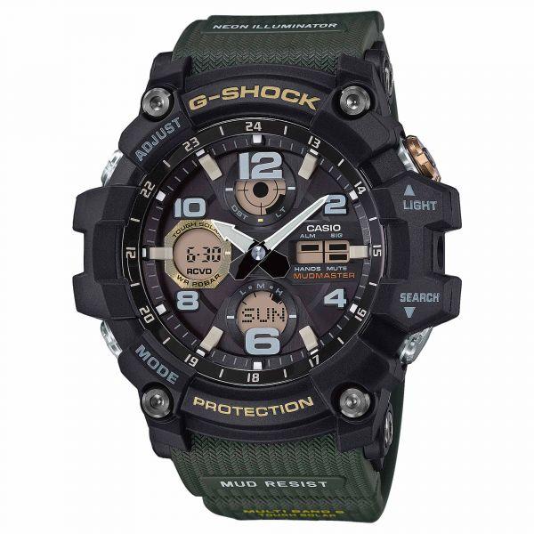 Casio Uhr G-Shock Mudmaster GWG-100-1A3ER schwarz oliv