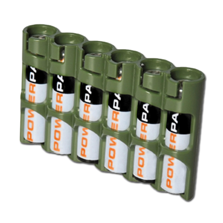 Batteriehalter Powerpax SlimLine 6 x AAA oliv
