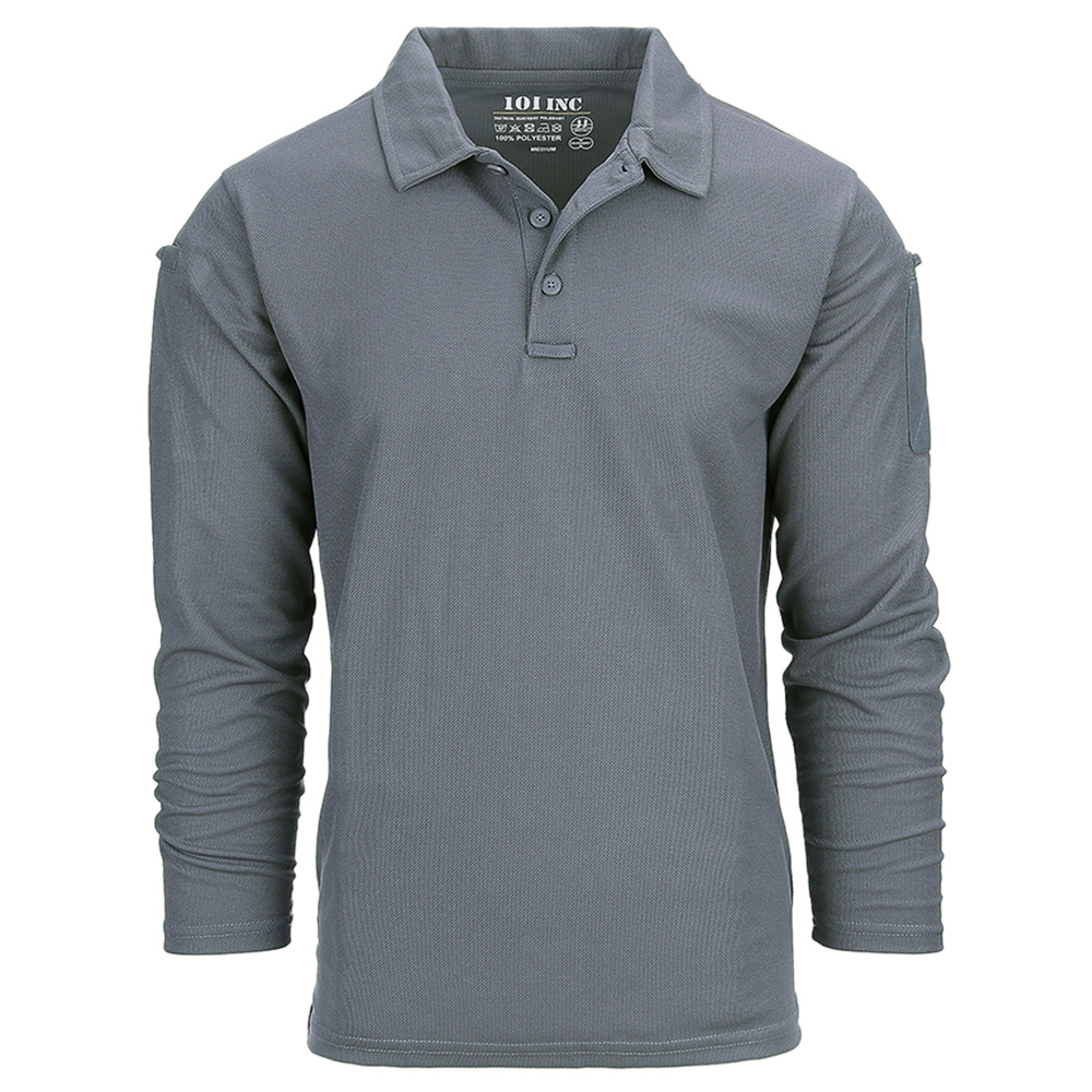 101 Inc. Longsleeve Tactical Polo Quick Dry wolf grey