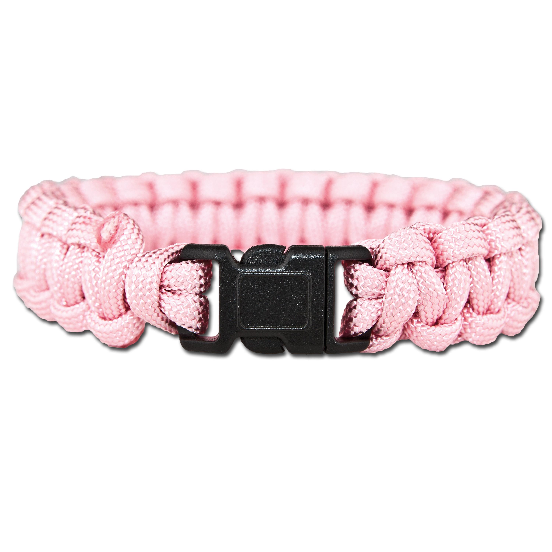 Survival Paracord Bracelet pink