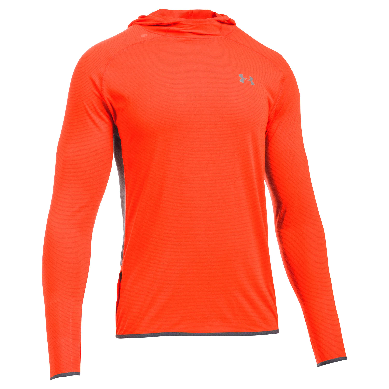 Under Armour Fitness Langarmshirt Hoodie Threadborne rot orange