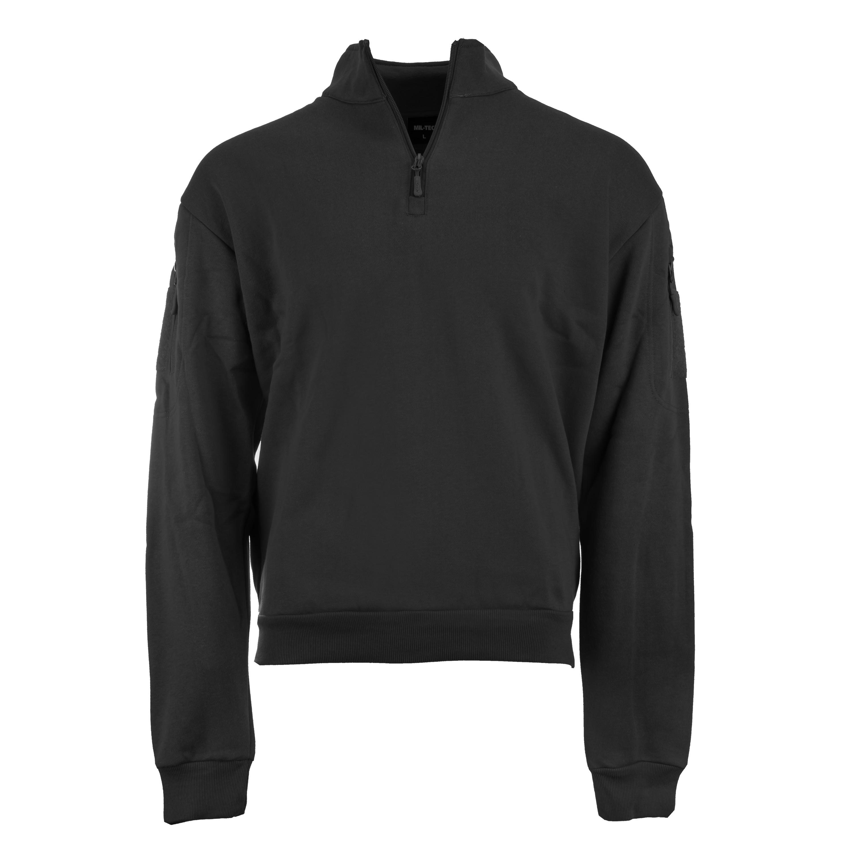Mil-Tec Tactical Sweatshirt mit Zipper schwarz
