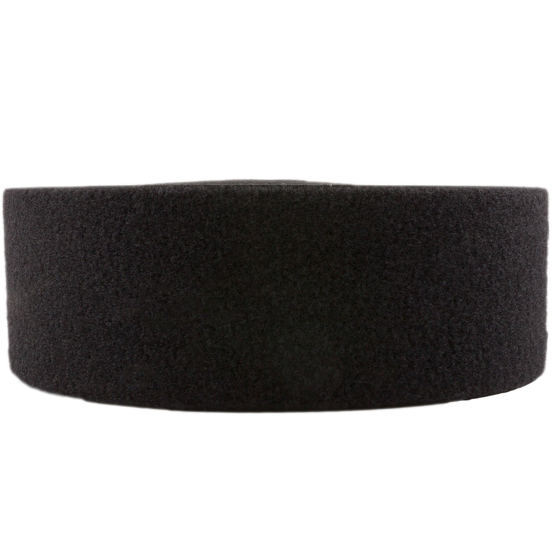 Klettband schwarz 100mm flausch Meterware
