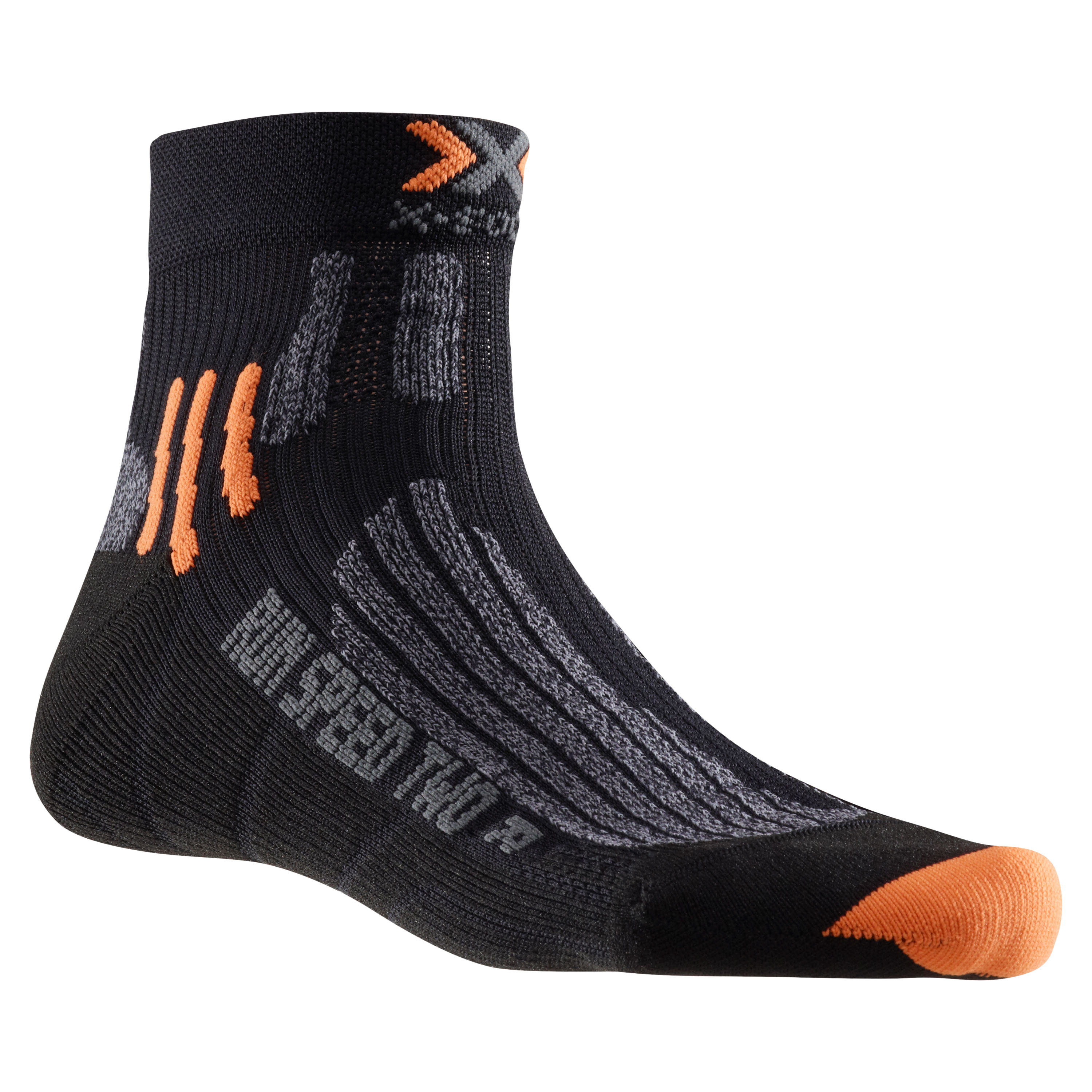 X-Socks Socken Run Speed Two schwarz grau